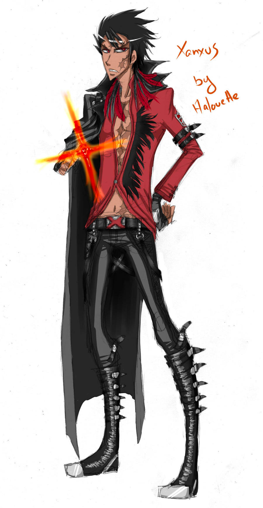 Custom uniform Xanxus by Halouette