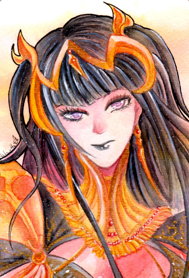 Tharja watercolor by Halouette