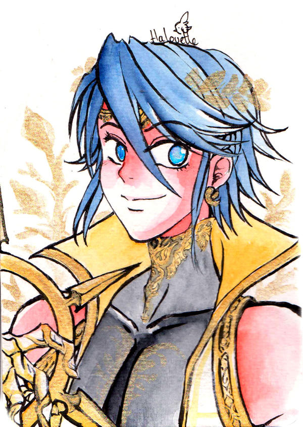 Prince dancer Inigo watercolor by Halouette
