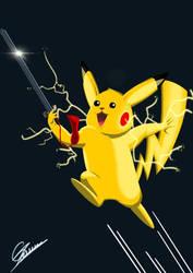 pikachu doing kung fu !! by gocudo49