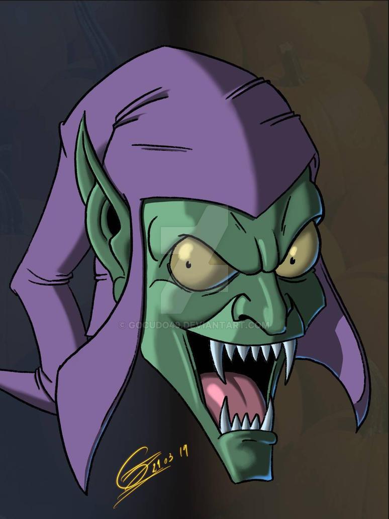 green goblin on iPad with procreate by gocudo49
