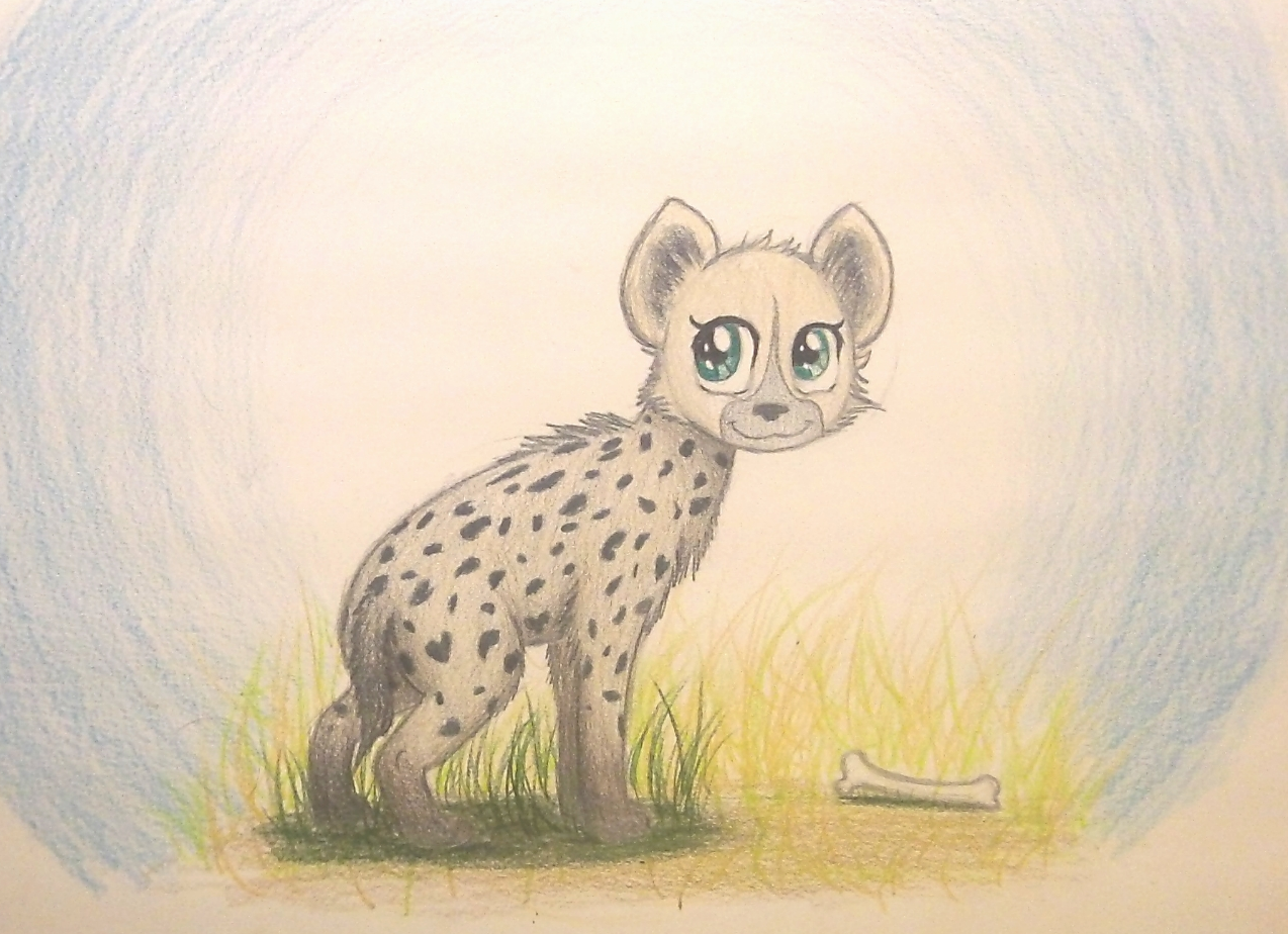 thefriendlyelephant amara the spotted hyena cub by thefriendlyelephant