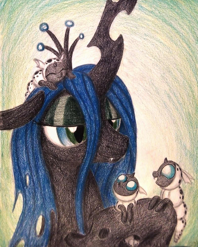 Loving Larva (Commission for QueenofChangeling) by TheFriendlyElephant