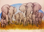 Big Tusker Family by TheFriendlyElephant