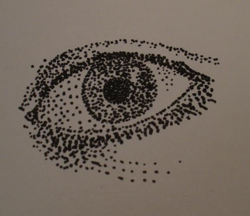 Pointillism Eye by 3zirconium3
