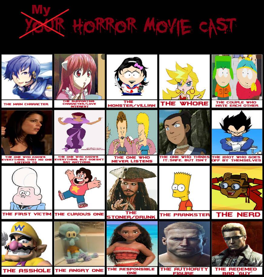 My Horror Movie Cast Meme 2018 by LunaMoon9000 on DeviantArt