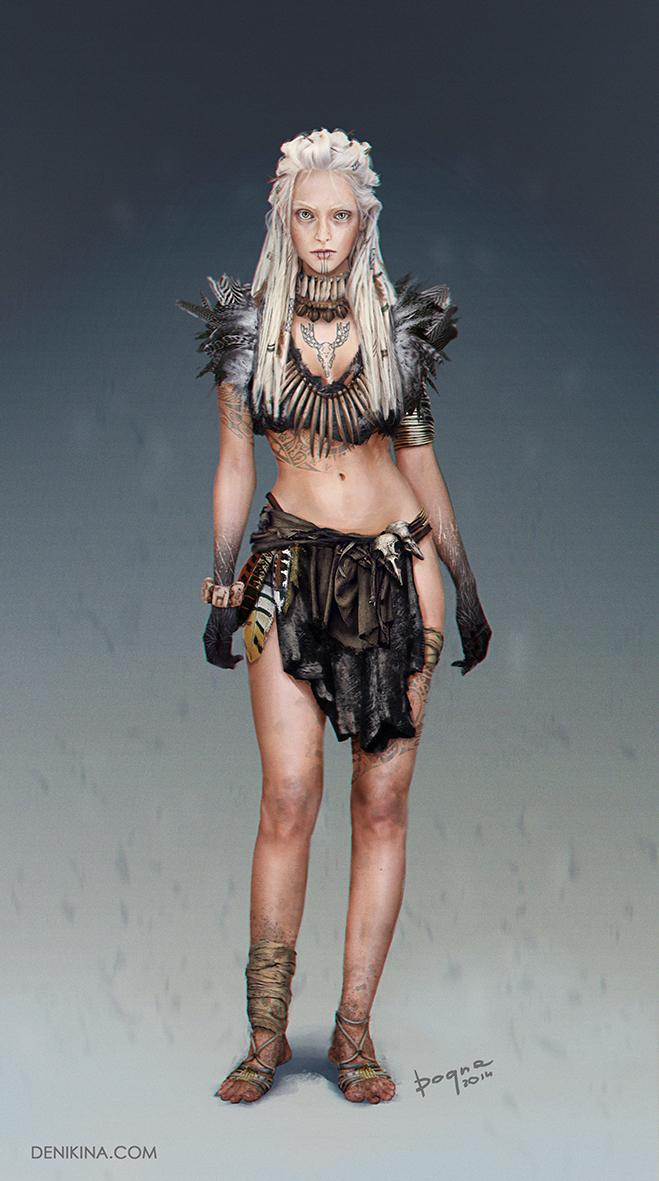 druid girl by denikina-art