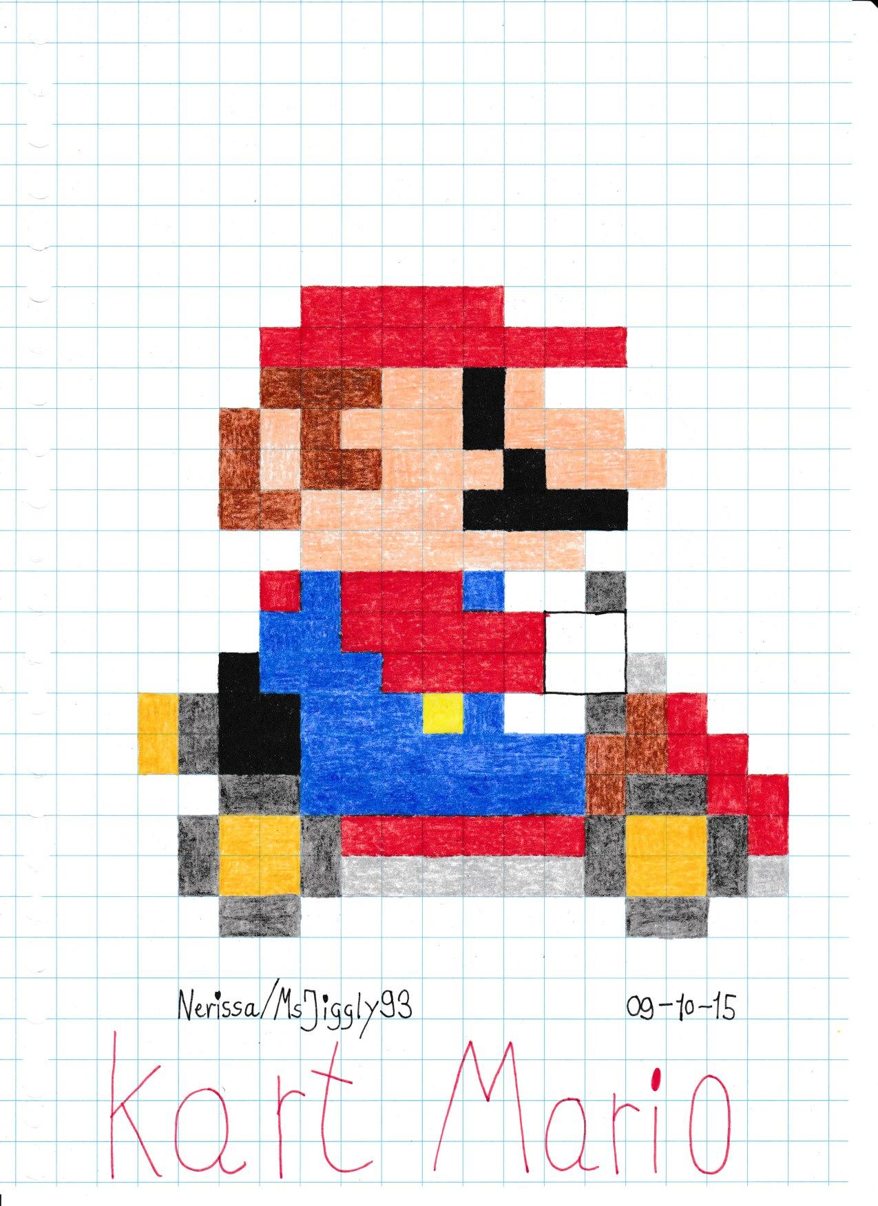 Squishy Duck Super Mario Maker 4 : Kart Mario (8-Bit) by MsJiggly93 on DeviantArt