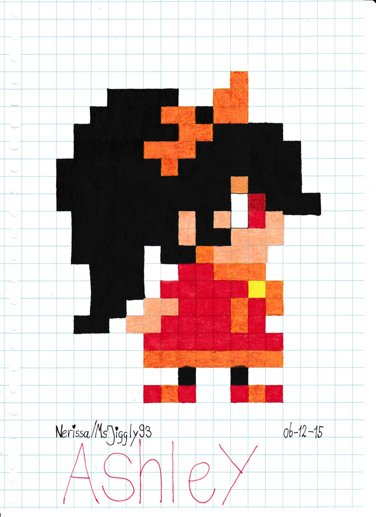 how to draw 8 bit mario characters on graph paper