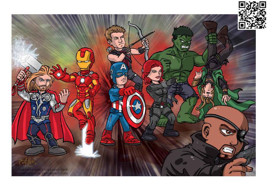 The Avengers Cartoon by johncastelhano