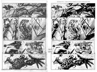 Batman 9 pg1 sample (Ink) by johncastelhano