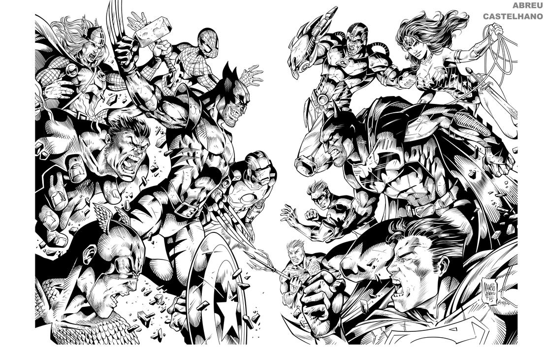 Dc Comic Coloring Pages Printable Dc Best Free Coloring