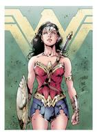 Wonder Woman (color) by johncastelhano