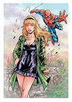 Spidey meets Gwen Stacy (color)