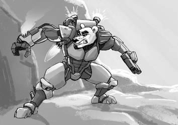 Ferocious Battle bear! by MenacingChicken