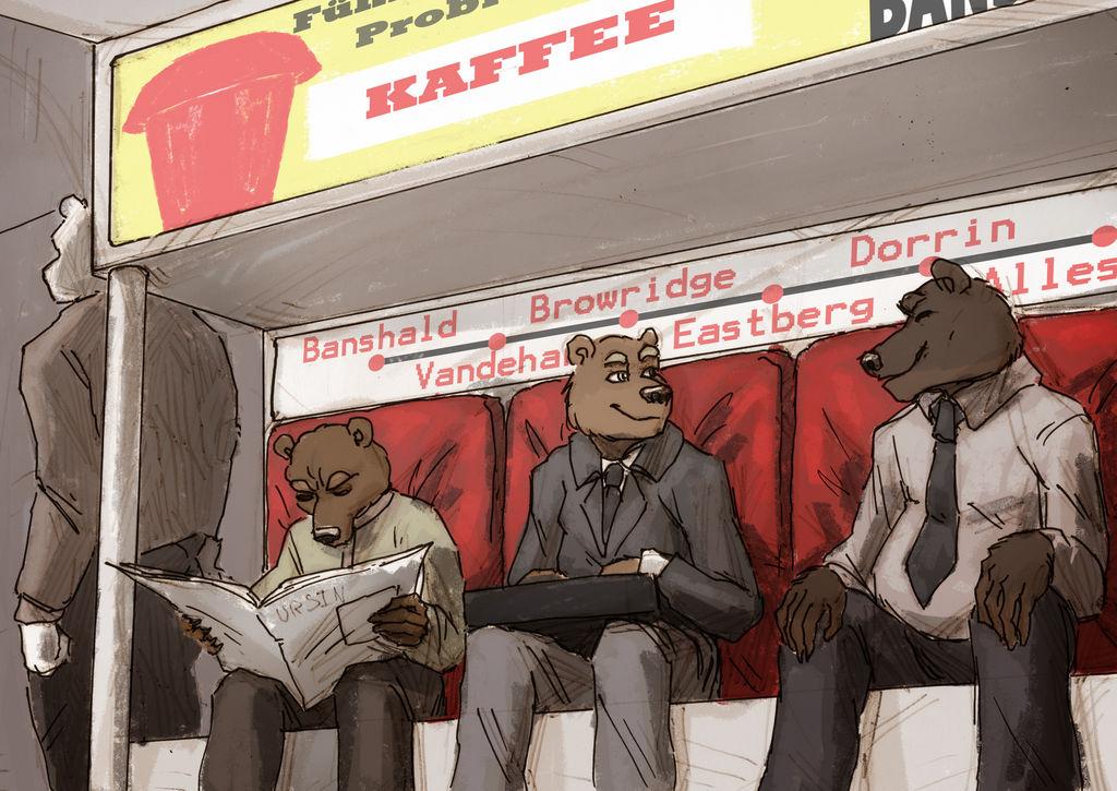 ATLAS - Ursine Train Scene by MenacingChicken