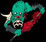 Alien mutant zombie