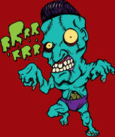 Mad insane n angry zombie by HorrorRudey