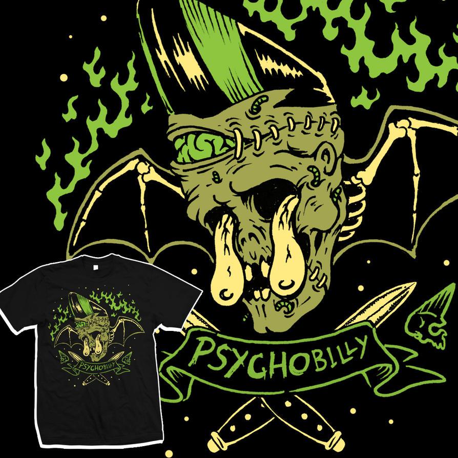 x ray psychobilly zombie bat by HorrorRudey