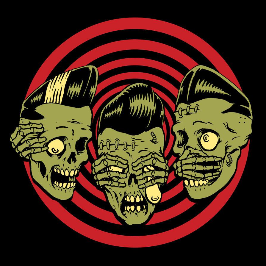 Rockabilly Zombie Wallpaper Horror Rudey Psychobil...