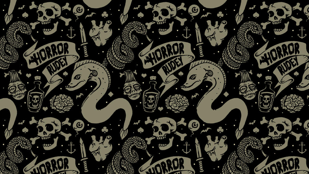 Lowbrow Tile Wallpaper by HorrorRudey on DeviantArt