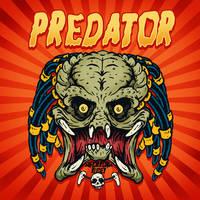 Predator in Looney tunes style