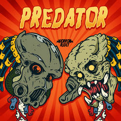 Predator in Looney tunes style 2