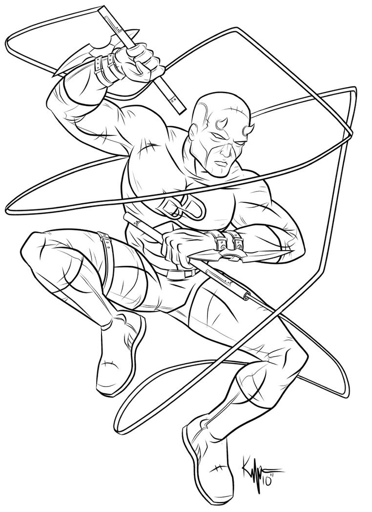 daredevil coloring pages daredevil by kaufee on deviantart