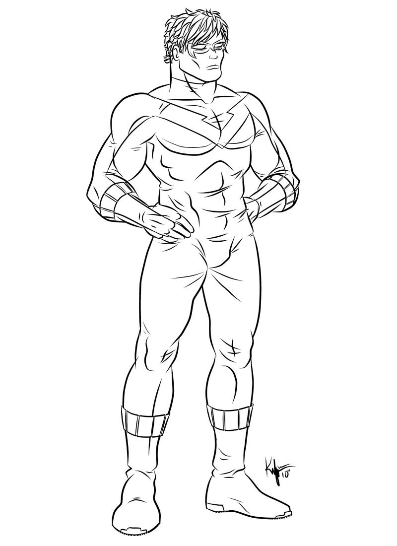 Dc Comics Nightwing Coloring Pages