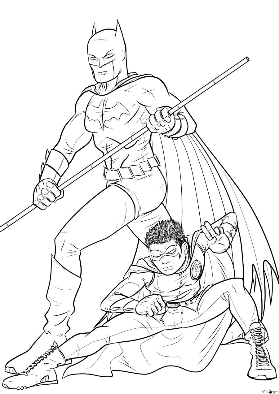 coloring pages batman robin - photo #40