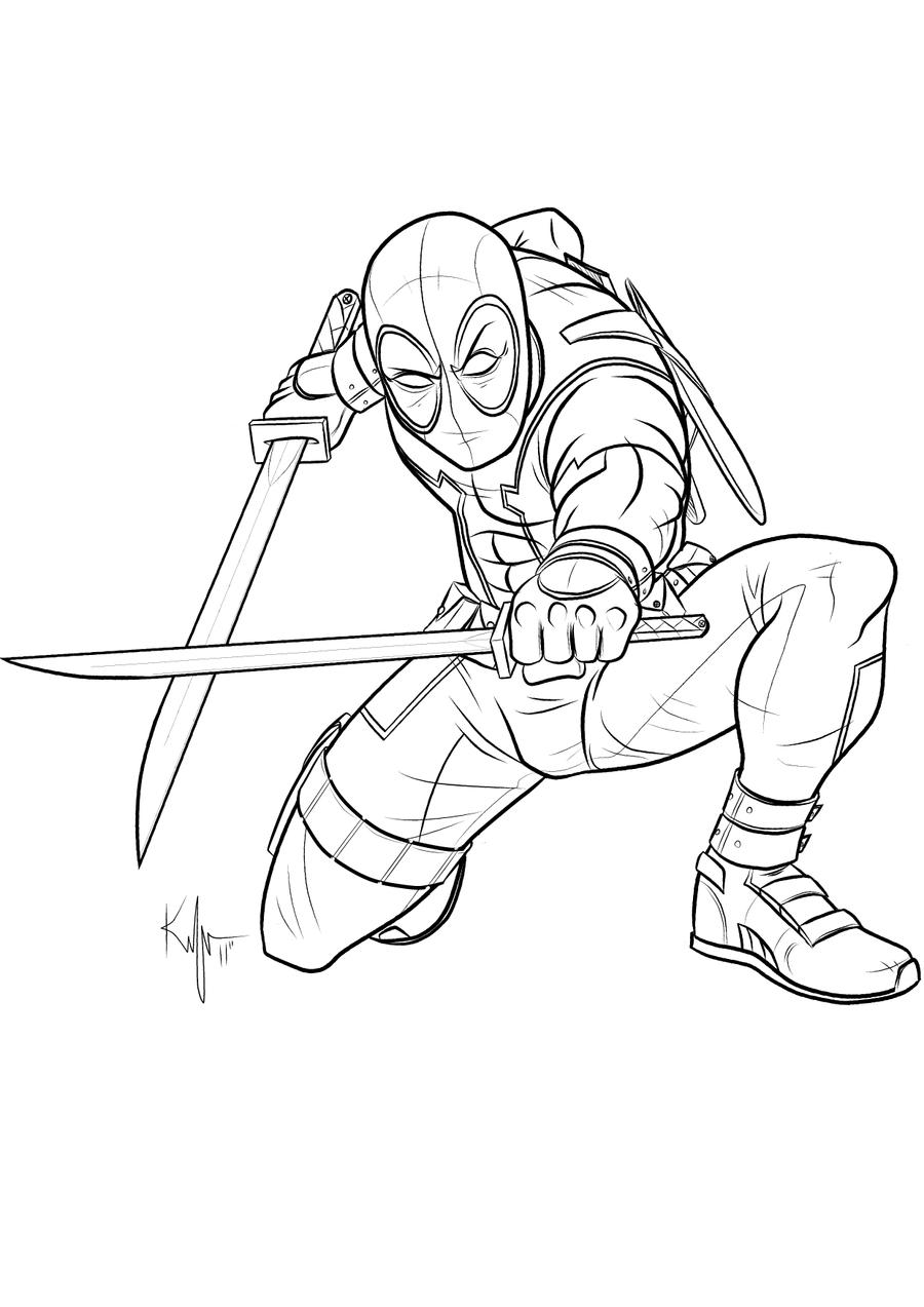 Uncanny deadpool by kaufee on deviantart for Dead pool coloring pages
