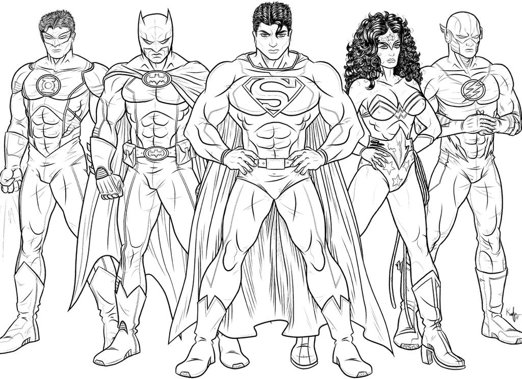 Young Justice Printable Best Of Coloring Pages: The Justice League Of America- By Kaufee On DeviantArt