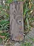 Raven woodcarving