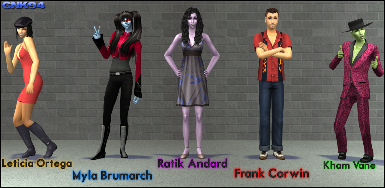 Sims 2 space farce characters by cartooniack1994 on for Farcical characters