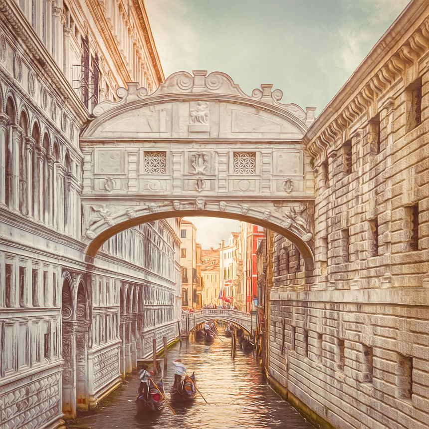 Bridge of Sighs Venice Henry von Huch by Henry-von-Huch