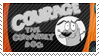 Courage the cowardly dog stamp by pervyspotracoonplz