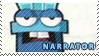 Narrator stamp by pervyspotracoonplz