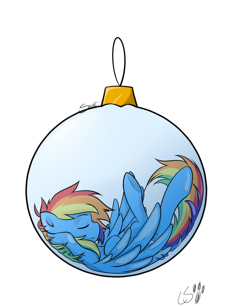 Rainbow Dash in a Bauble by TheLittleBear