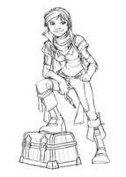 Female Halfling Rogue by Grimmwerkz