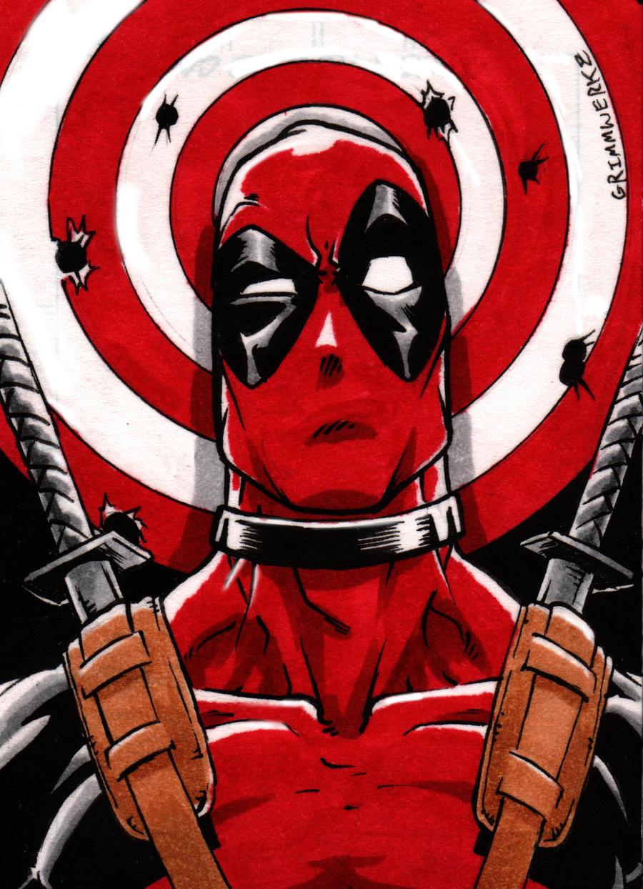 Deadpool Sketch Card By Grimmwerkz On DeviantArt
