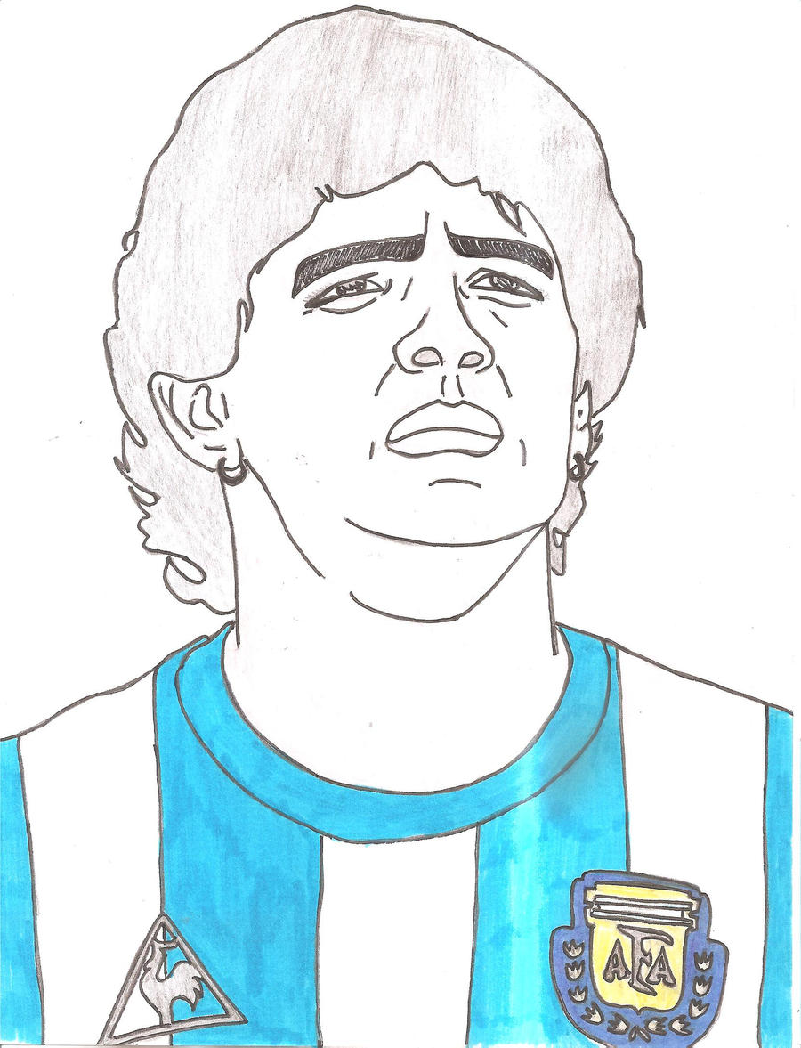 diego maradona by themoms