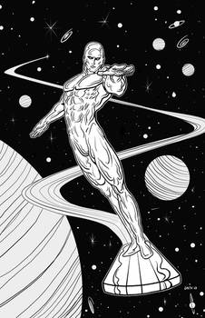 Silver Surfer Poster Black and White