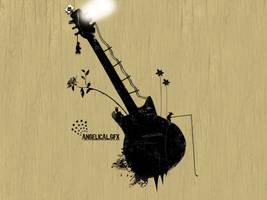 Wallpaper : Guitar - vectorial by alex240390