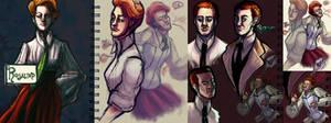 Lutece Sketchdump by RunawayKid