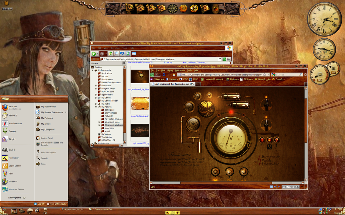 Windows XP Steampunk DT by michaelgoldthriteart