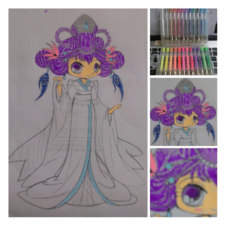 Gel pens coloring by WynterNyt on DeviantArt