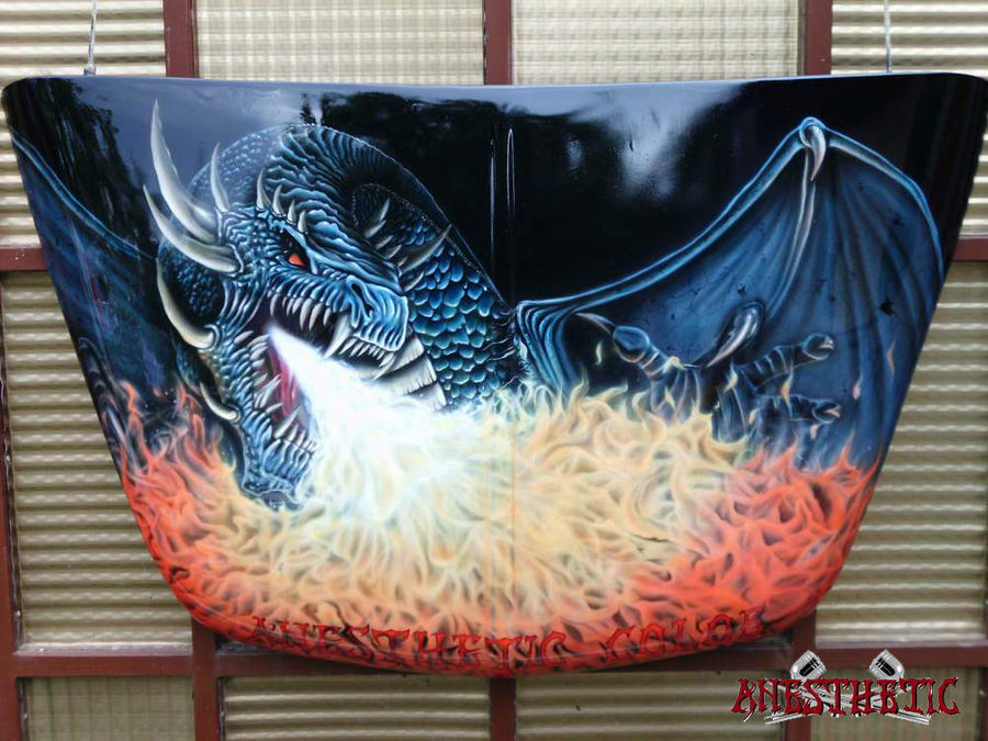 dragon on the hood by anestheticolor