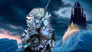 Siberian Tiger Anthro in Icy Landscape