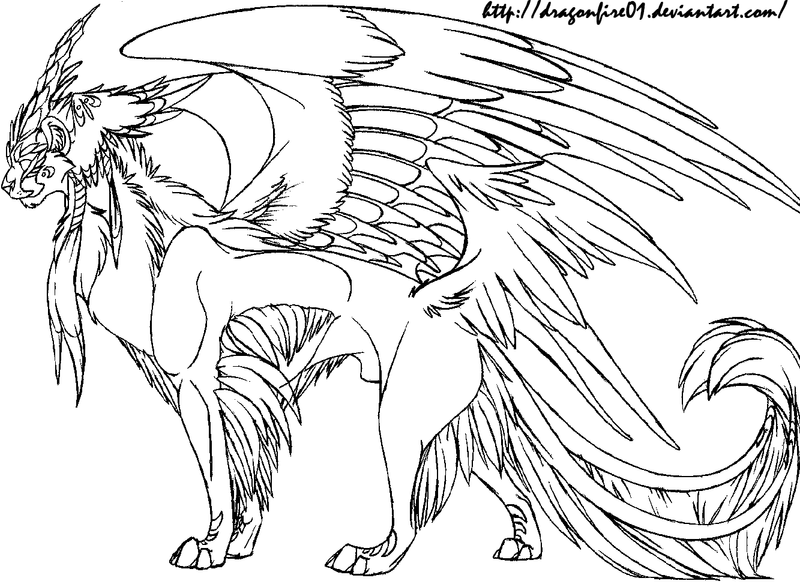 Cat Creature Lineart By DracoFeathers On DeviantArt