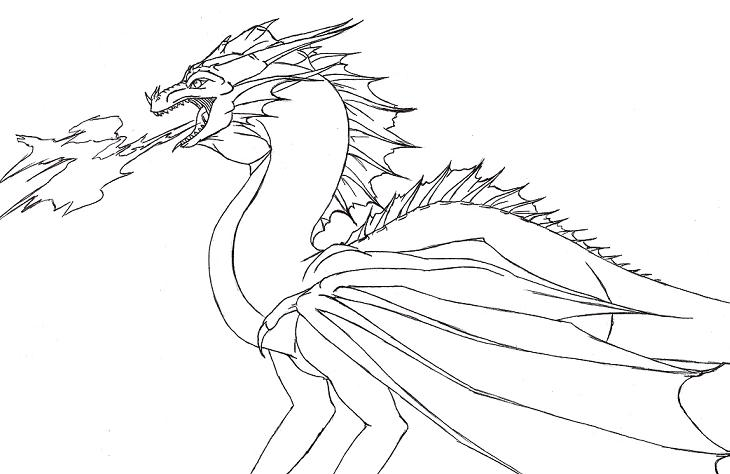 Drawings Of Dragons Blowing Fire